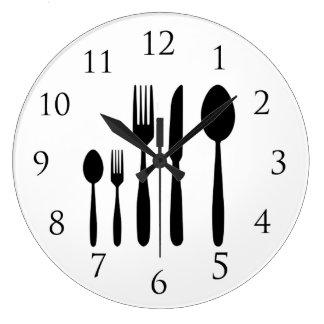 Reloj de pared del restaurante con números