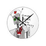 Reloj de pared del robot de la enfermera