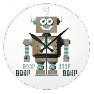 Reloj de pared del robot del juguete de la señal s