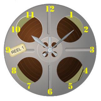 Reloj de pared del ROLLO DE PELÍCULA