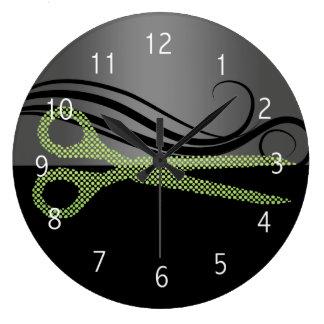 reloj de pared del salón de pelo