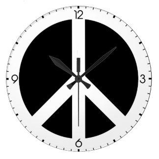 Reloj de pared del signo de la paz