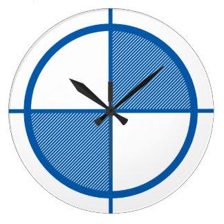 Reloj de pared del símbolo de la elevación (azul)