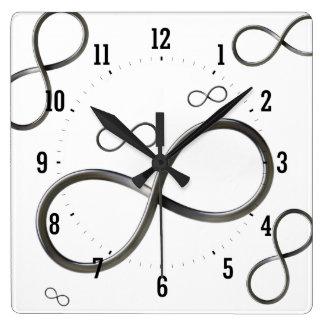 Reloj de pared del símbolo del infinito
