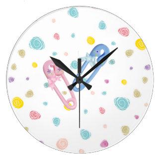 Reloj de pared del sitio del bebé