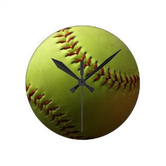 Reloj de pared del softball