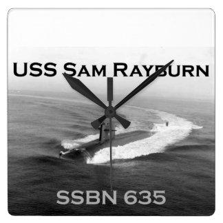 Reloj de pared del SSBN 635 de USS Sam Rayburn