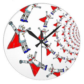 Reloj de pared del super héroe del robot