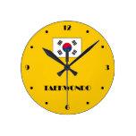 Reloj de pared del Taekwondo