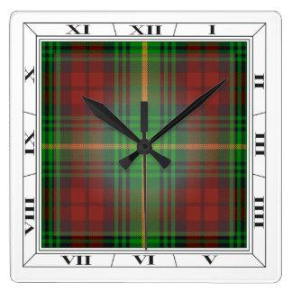 Reloj de pared del tartán de Martin
