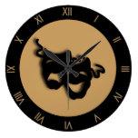 Reloj de pared del teatro de Brown del moreno de l
