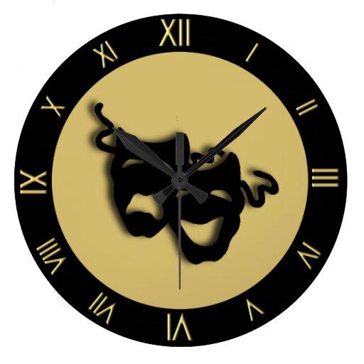 Reloj de pared del teatro de los oros de la comedi