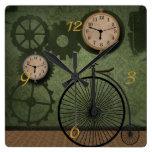 Reloj de pared del tema de Steampunk del vintage
