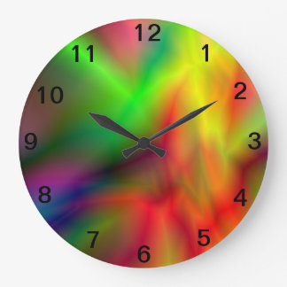Reloj de pared del teñido anudado