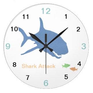 Reloj de pared del tiburón