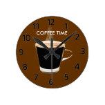 Reloj de pared del tiempo del café
