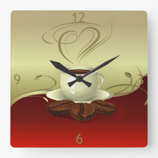 Reloj de pared del tiempo del café (1)