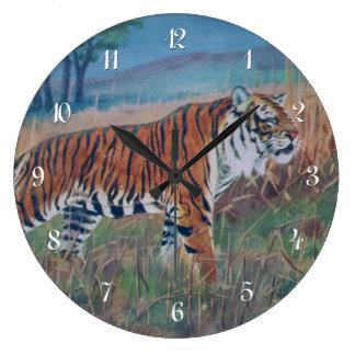 Reloj de pared del tigre de Bengala