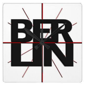 Reloj de pared del Timezone de Berlín