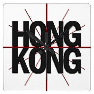 Reloj de pared del Timezone de Hong Kong