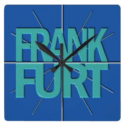 Reloj de pared del Timezone de las finanzas de Fra