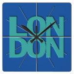 Reloj de pared del Timezone de las finanzas de Lon