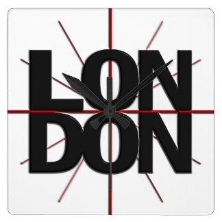 Reloj de pared del Timezone de Londres