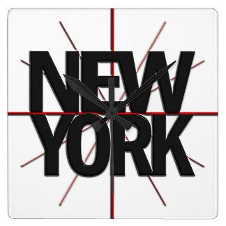 Reloj de pared del Timezone de Nueva York