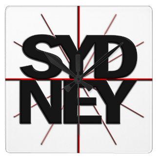 Reloj de pared del Timezone de Sydney