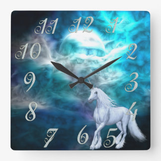 Reloj de pared del unicornio del cielo de la fanta