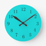 Reloj de pared del verde azul