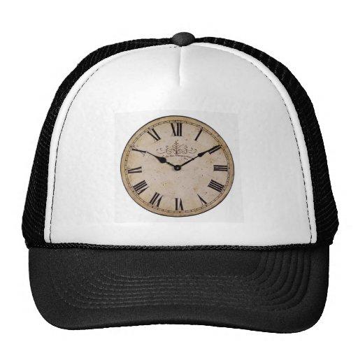Reloj de pared del vintage gorros bordados