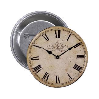 Reloj de pared del vintage pin redondo de 2 pulgadas