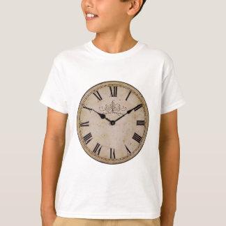 Reloj de pared del vintage remera