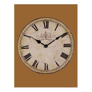 Reloj de pared del vintage postal
