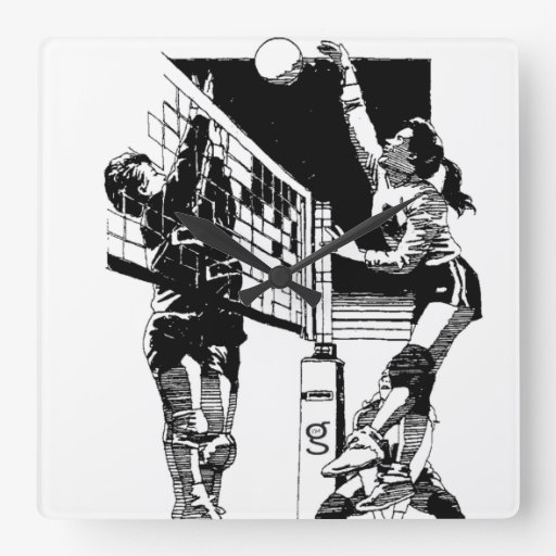 Reloj de pared del voleibol