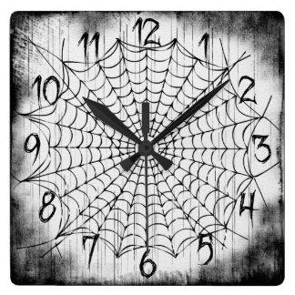 Reloj de pared del Web de araña