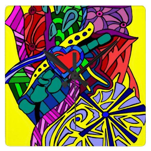 Reloj de pared del zen 3 de los colores
