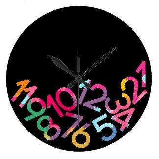 Reloj de pared divertido caido de la gravedad de l