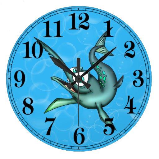 Reloj de pared divertido de los peces espadas