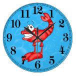 Reloj de pared divertido de los pescados de la lan