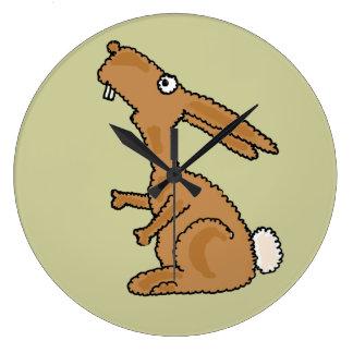 Reloj de pared divertido del conejo de conejito AP