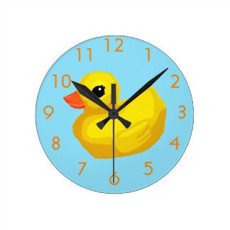 Reloj de pared Ducky de goma