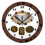 Reloj de pared dulce de la invitación de la amista