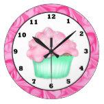 reloj de pared dulce de la invitación de la magdal