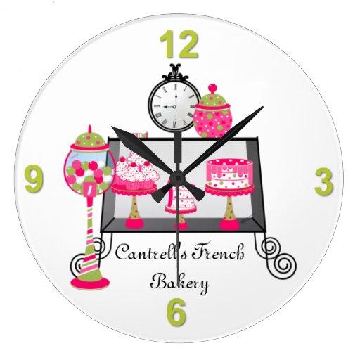 Reloj de pared dulce de la tienda de la panadería
