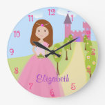 Reloj de pared dulce de princesa Personalized