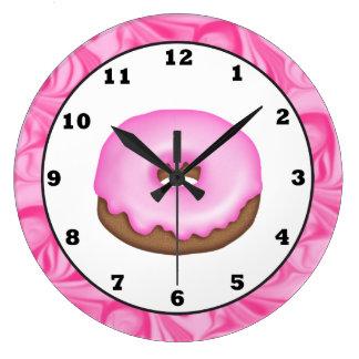 Reloj de pared dulce helado de la invitación del b
