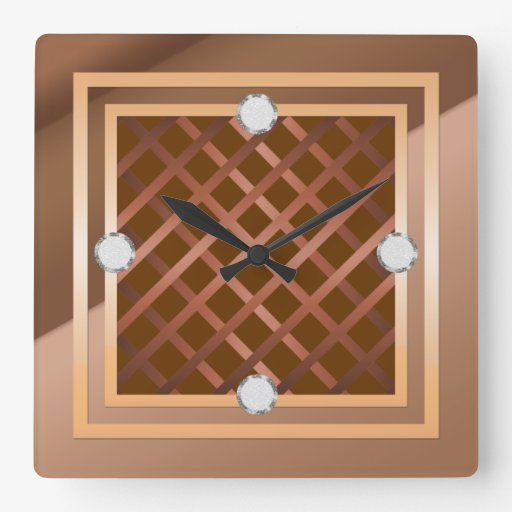 Reloj de pared elegante de Latice