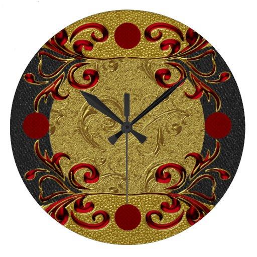 Reloj de pared elegante decorativo